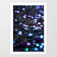 Purple Stars Art Print