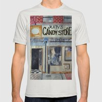 Candy Store Mens Fitted Tee Silver SMALL
