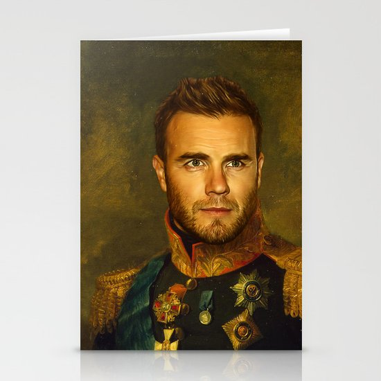 Gary Barlow - replaceface Stationery Card