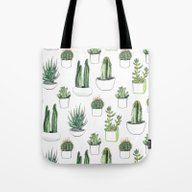 Watercolour Cacti And Su… Tote Bag