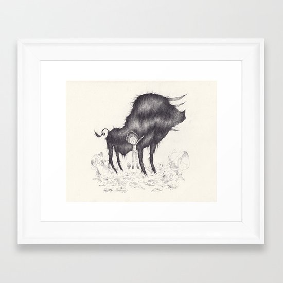 the smallest piece Framed Art Print