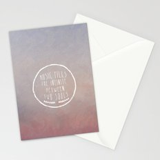I. Music fills the infinite Stationery Cards