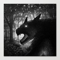 Drawlloween 2015: Werewo… Canvas Print
