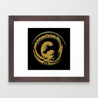 Dragon Circle Framed Art Print