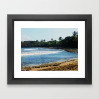 Near Cueva del indio @ Arecibo Framed Art Print