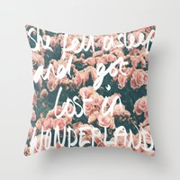 SHE FELL ASLEEP AND GOT … Throw Pillow