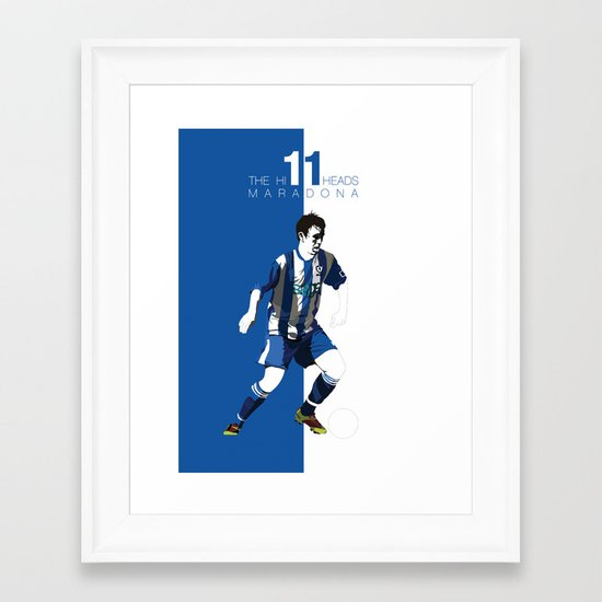 The Hillheads Maradona Framed Art Print