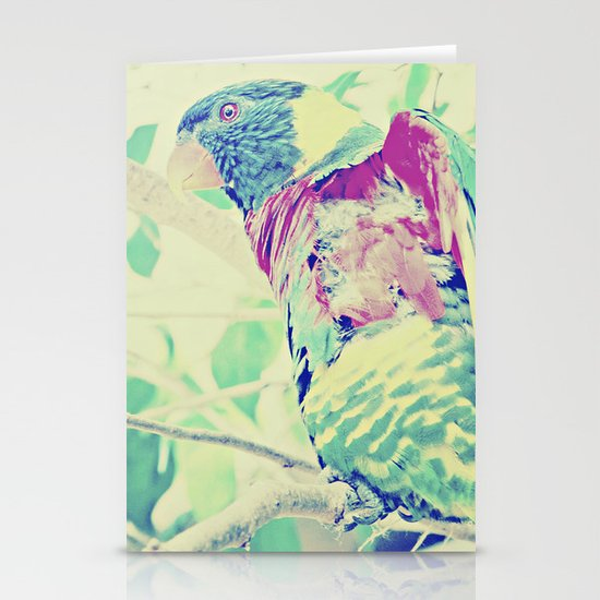 Colorful Bird Dreams  Stationery Card
