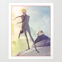 Agent Calvin And Hobbes Art Print