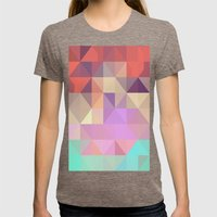 color story - tender Womens Fitted Tee Tri-Coffee SMALL