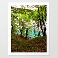 Plitvice Lakes Art Print