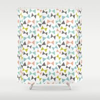 Spring bows Shower Curtain