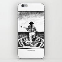 Māori Harpooner iPhone & iPod Skin