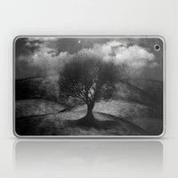 Black and white - Once upon a time... The lone tree. Laptop & iPad Skin