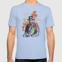 Indiana Jones Mens Fitted Tee Athletic Blue SMALL