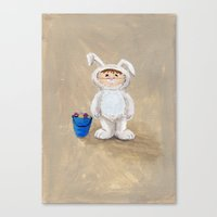 I'm A Rabbit - but I wanted to be a Fireman Canvas Print