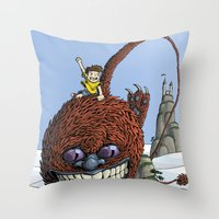Mountain Hopper Throw Pillow