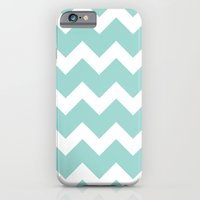 Chevron - Aqua iPhone 6 Slim Case