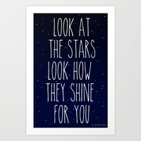 Look How They Shine For … Art Print