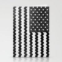 Black Zig Zag Flag Stationery Cards