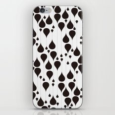 Monochrome Waterdrops Pa… iPhone & iPod Skin