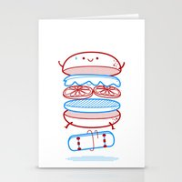 Street Burger  Stationery Cards