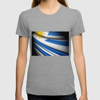 Flag Of Uruguay Womens Fitted Tee Tri-Grey SMALL