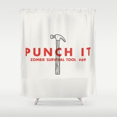 Punch it - Zombie Survival Tools Shower Curtain