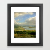 Alpine Ranges Framed Art Print
