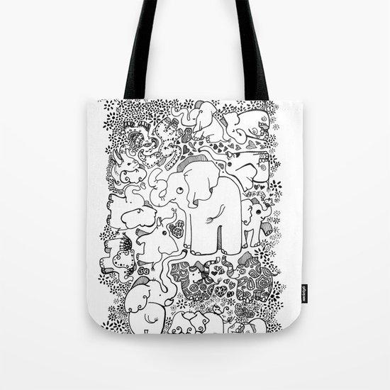 Little Elephants Tote Bag