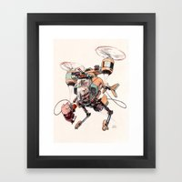 Aerobatic Support Piggie… Framed Art Print