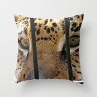 Hungry Eyes Throw Pillow
