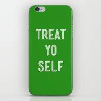 Treat Yo Self Green - Pa… iPhone & iPod Skin