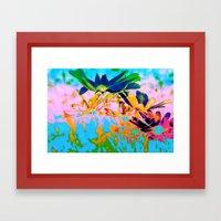 Secret Garden I - Floral Abstract Art Framed Art Print