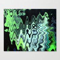 Gray Wave Canvas Print