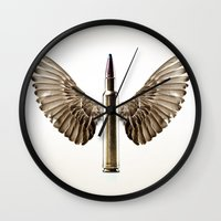 Caliber 30 Bird Wall Clock
