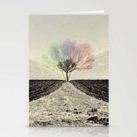 RGB Tree Stationery Card