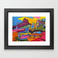 Ipanema beach Framed Art Print