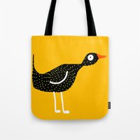 Bird - Yellow Tote Bag