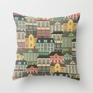Throw Pillow featuring Urban by Julia Badeeva