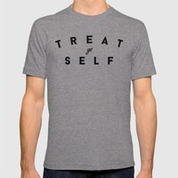 Treat Yo Self II Mens Fitted Tee Tri-Grey SMALL