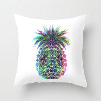 Pineapple CMYK Throw Pillow