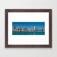 Chicago Skyline Panorama Framed Art Print