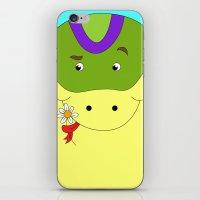 Cute snake in love children's illustration iPhone & iPod Skin