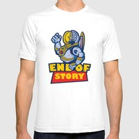END OF STORY Mens Fitted Tee White SMALL