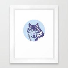 Loyal Wolf Totem Portrait  Framed Art Print