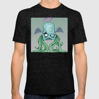 Space Alien Sci Fi art by RonkyTonk Mens Fitted Tee Tri-Black SMALL