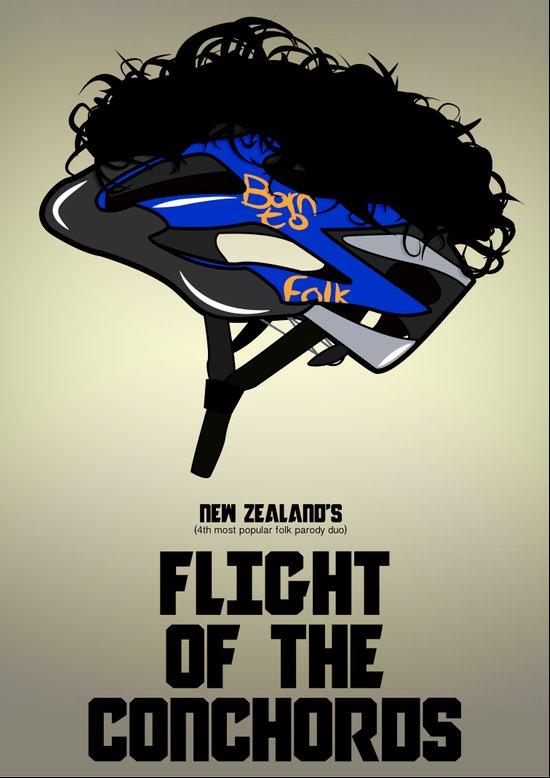 Flight of the Conchords - Hair Helmet Art Print