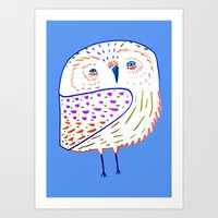 owl print, owl illustration, owl art, owl  Art Print