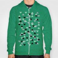 Triangles Mint Grey Hoody